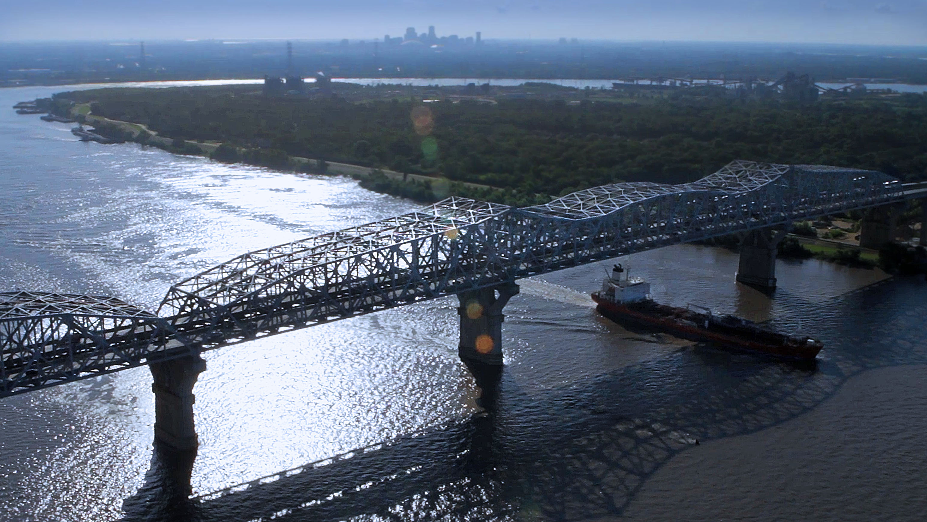 Hue P. Long Bridge New Orleans
