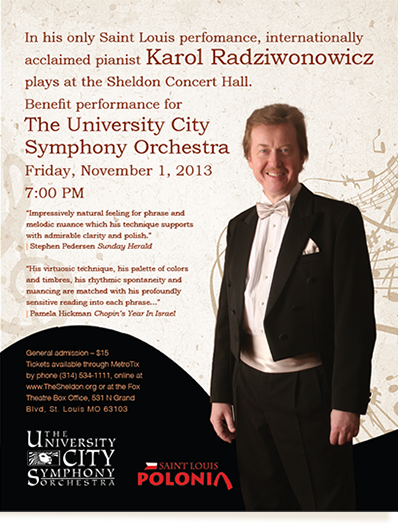 Karol Radziwonowicz St. Louis, November 1, Sheldon Hall
